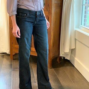 X2 Dark Wash Wide Leg Jeans, Size 6